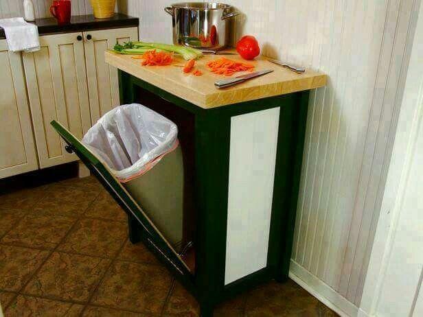 60 best Küche images on Pinterest Kitchen storage, Spice racks and - schöne mülleimer für die küche