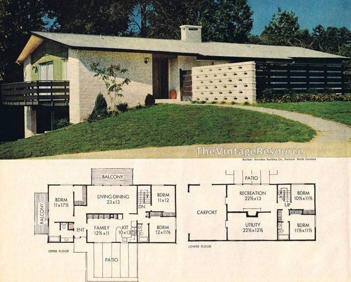 Better Homes Gardens Feature House November 1964 Mid