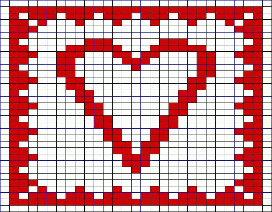 Double Knitting Heart Pattern : 17 Best images about potholders on Pinterest Free ...