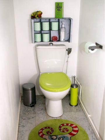 Un rangement malin fait soi-même récup' pour vos WC : le résultat