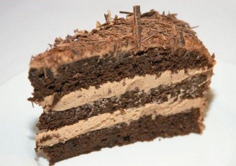 Čokoládová torta s parížskou šľahačkou