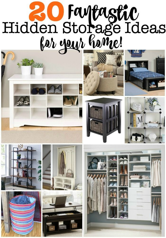 20 Fantastic Hidden Storage Ideas For Your Home Small Living Room Storage Small Bedroom Storage Living Room Storage