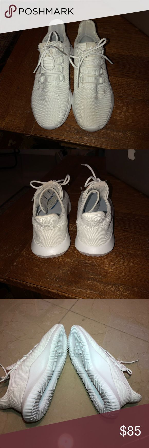 Adidas tubular White on white adidas tubular shadows. Size 8! Never worn. One speck of dirt on lace, would come out with water and soap. adidas Shoes Sneakers