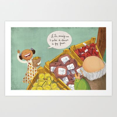 2 Kilos of Hugs Please Art Print by Rita Correia Illustrator - $20.00