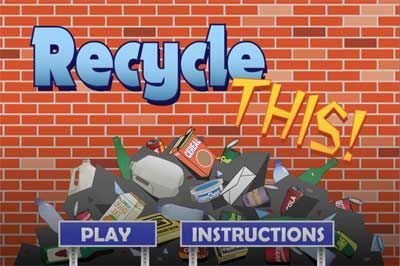 Play Recycle THIS! game to show kids what can be recycled and if a recyclable item go to the landfill it show how long it lasts in the landfill compared to items that belong there.