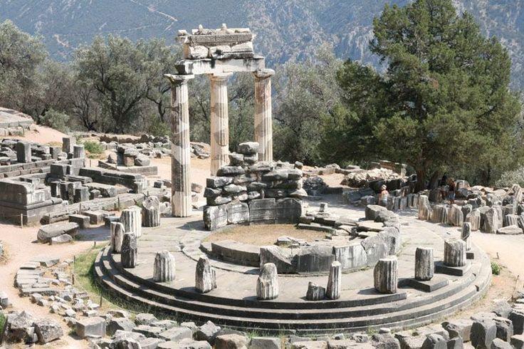 Grèce - Sanctuaire d'Athéna - Le Tholos - temple circulaire Delphes