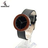Bobo bird j01 деревянные водонепроницаемые часы для женщин подарок красного дерева часы мода кварцевые наручные часы черный кожаный ремешок как ...