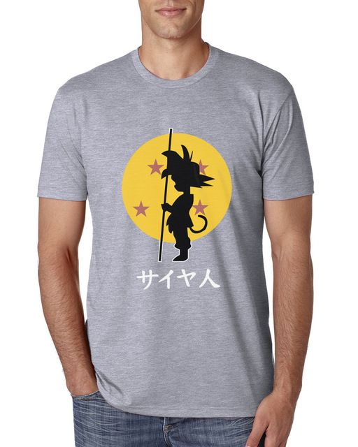 t-shirt for men 2017 SON Goku Super saiyan funny camisetas anime DRAGON BALL men streetwear tops tee short sleeve brand clothing - free shipping worldwide