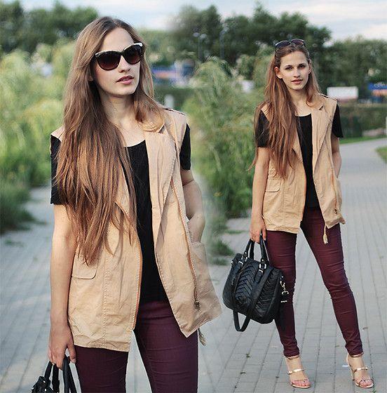 Romwe Vest, Zara Bag, Zara Pants
