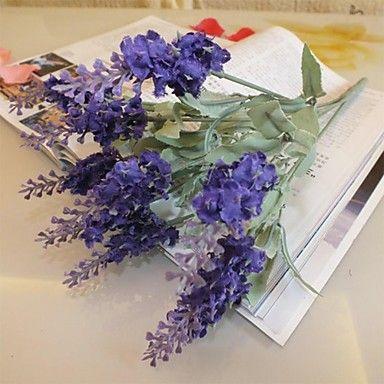 """14.1 """"l set van 1 natuurlijke 10 hoofden multicolor provence lavendel plastic bloemen (verschillende kleuren) – EUR € 2.99"""