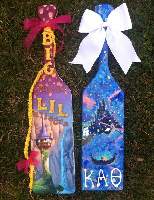 the paddles my big and i made for each other. they both happened to be Tangled themed, because it's our favorite movie. completely unplanned!