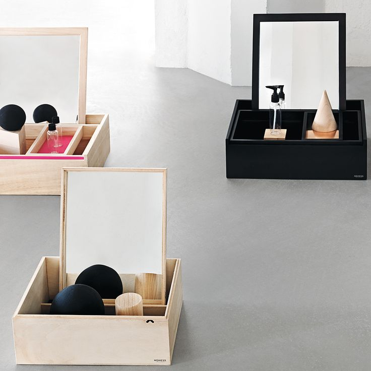 Instantly update your dressing table with this Balsabox Personal Storage Box from Nomess Copenhagen. Lightweight for added portability this box features a large main compartment and built-in sliding s