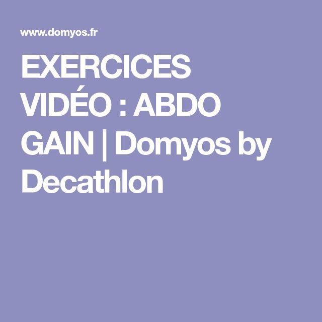 EXERCICES VIDÉO: ABDO GAIN   Domyos by Decathlon