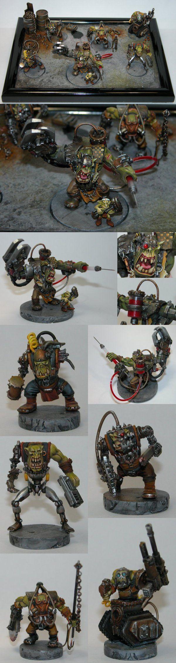 Mad Dok Grospik et ses Cyborks - Orks - 40k