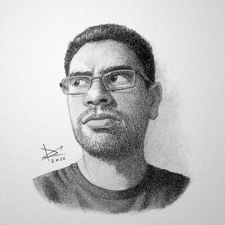 Starting a series of portrait studies with pencils. This first one is me. #drawing #pencil #portrait