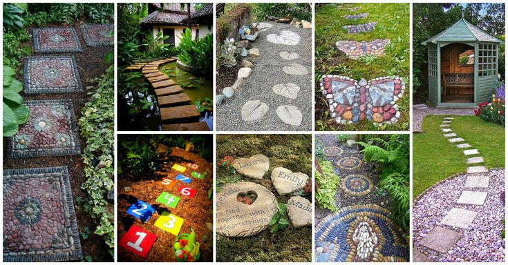 I searched the Net to see some possibilities that can help me change the look of my yard without spending money.What I have found were these stepping stones
