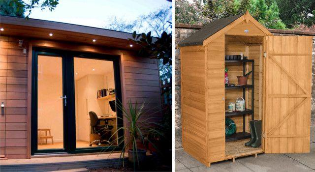 Casetas de madera para jard n exteriores pinterest for Casetas de jardin con porche