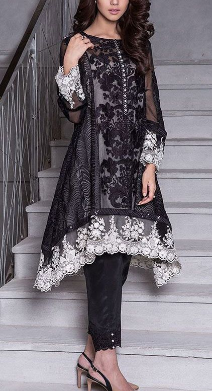 Buy Black Embroidered Chiffon A-line Dress by Baroque 2015 Call: (702) 751-3523 Email: Info@PakRobe.com www.pakrobe.com https://www.pakrobe.com/Women/Clothing/Buy-Designer-Chiffon-Dresses #DESIGNER #CHIFFON #DRESSES