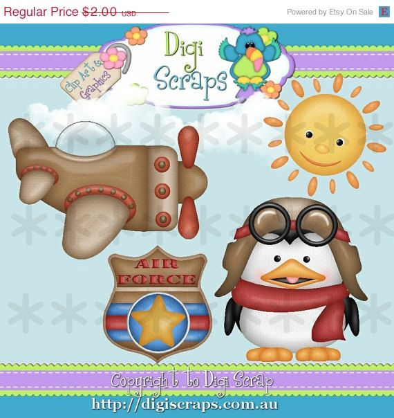 Penguin Pilot Clipart set... you will recieve 300dpi png files design by: Kristi W HANDMADE items are always allowed and are considered the only