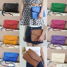 Women Messenger PU Leather Envelope Shoulder Crossbody Bag Vintage Clutch Bag
