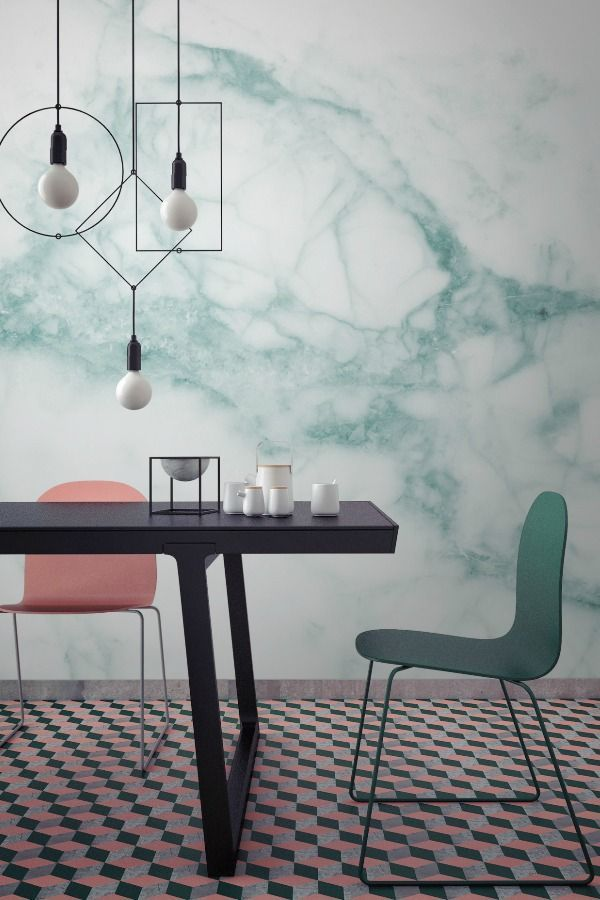 5 spaces that will make you fall in love with marble wallpaper - Wallpapers Designs For Home Interiors