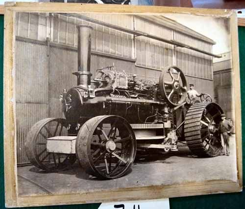 Auction Lot 714  (Works photo of an Aveling & Porter 36hp Ploughing Engine) Image 1