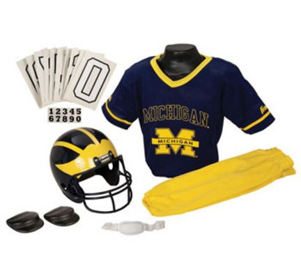 "Franklin Michigan Wolverines DELUXE Youth Helmet and Football Uniform Set (Small): ""Perfect gift for… #Sport #Football #Rugby #IceHockey"