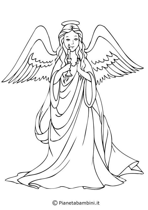 Ecco a voi ben 18 disegni di angeli da stampare e colorare per bambini; bellissime immagini natalizie da usare anche come decorazioni per la casa