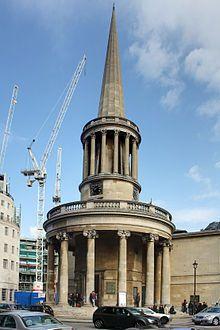 All Soul Church in London. Architect - John Nash