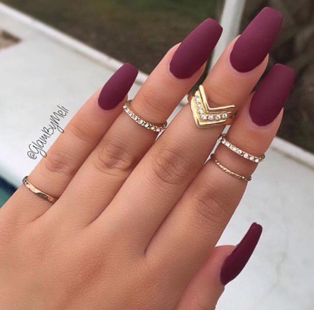 17 Manicures That Will Have You Mad About Matte - Best 25+ Rounded Nails Ideas On Pinterest Round Nails, Oval