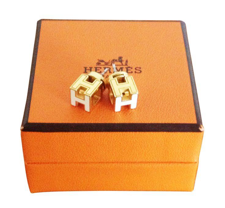 HERMES enameled earrings /  My good closet