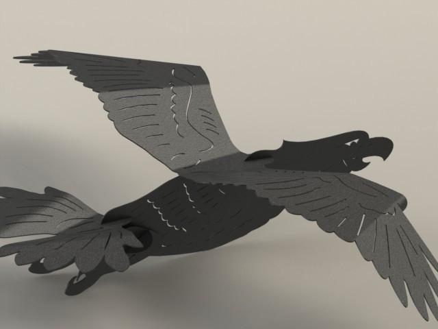 Bald Eagle 003 DXF File Good For CNC Plasma and Laser Cut