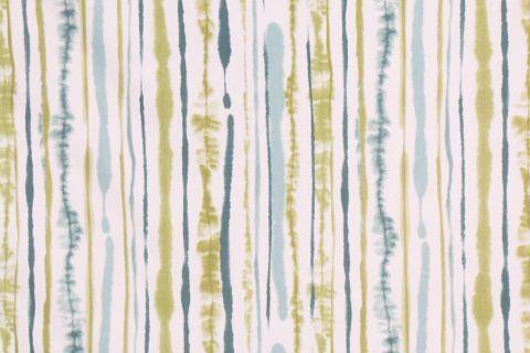 Duralee Suburban Home Sabaki Printed Cotton Drapery Fabric in Aqua Green