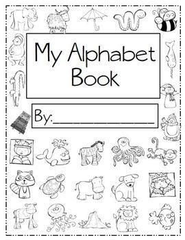 Alphabet Handwriting Book, abc book, printing, elementary, kindergarten, first grade