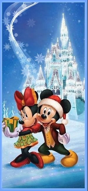 Walt Disney Christmas Wallpaper.Mickey Minnie Noel Colorier Les Enfants Marnfozine Com