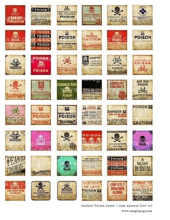 Antique Poison Labels
