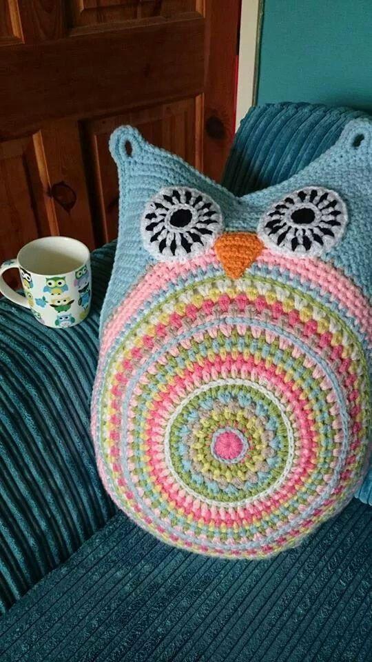 Cute owl cushion