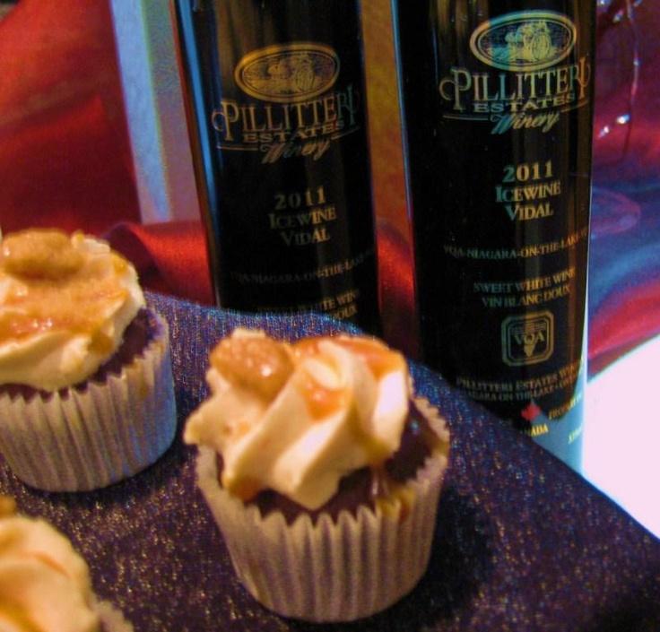 Days of Wine and Chocolate, Vidal Icewine and Caramel Chocolate Cupcakes!