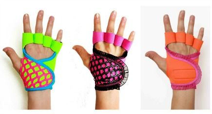 These #weight-lifting gloves from G-Love are bright, sassy, and super functional.