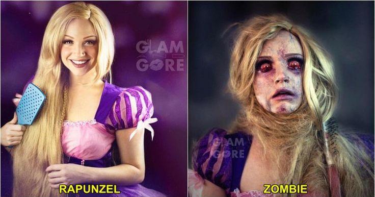 10 Karya makeup ini ubah putri cantik jadi sosok zombie menyeramkan