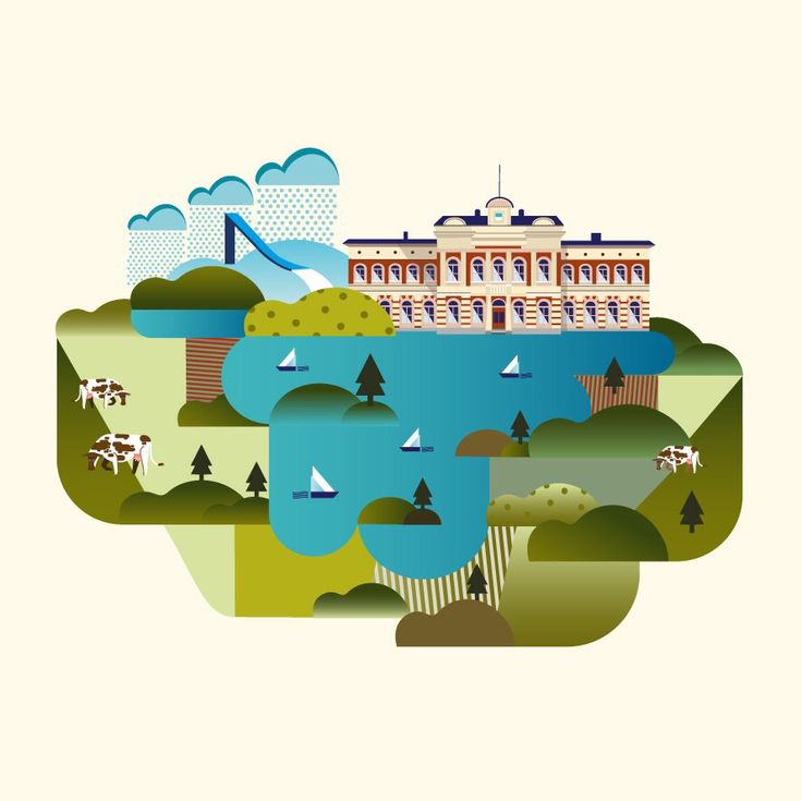 Illustration for my Illustrated Map of Finland -project:)