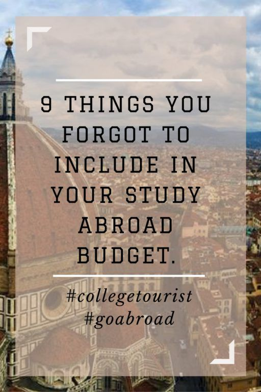 9 Things You Forgot to Include In Your Study Abroad Budget