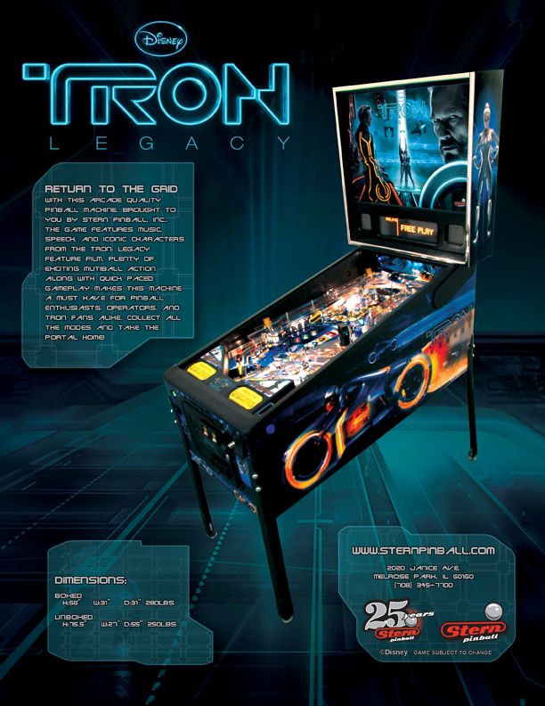 Pinball Machines - Tron: Legacy Pinball Machine - The Pinball Company
