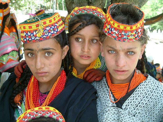 A teenage group of the Kalash girls ( Image : GULSHAN AZEEZ AZEEZ )