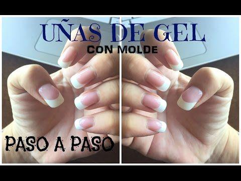TUTORIAL Como hacer uñas de Gel con molde Técnica Reversa - YouTube