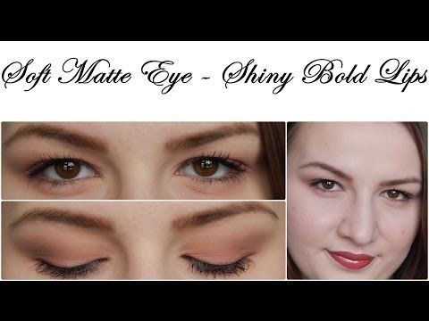 Soft Matte Eye + Shiny Bold Lips Makeup Tutorial