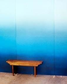 Beautiful blue ombre effect