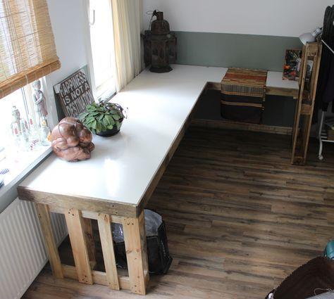 Die besten 25+ Schreibtisch aus Paletten Ideen auf Pinterest DIY - schreibtisch diy
