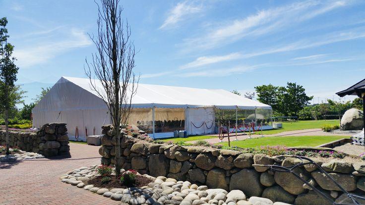 PS-selskapsutleie telt med panorama vinduer