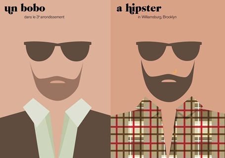 Paris vs New York: Paris Versus, New York Cities, Vahram Muratyan, Illustration, Graphics Design, Men Fashion, Vahrammuratyan, Newyork, Hipster Style
